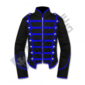 Men Military Marching Band Drummer Jacket Gothic Steampunk Style